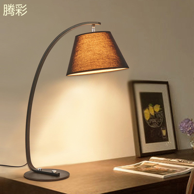 Teng color lighting minimalist modern american guest rooms nordic ikea bedroom lamp bedside lamp table lamp creative study lamp