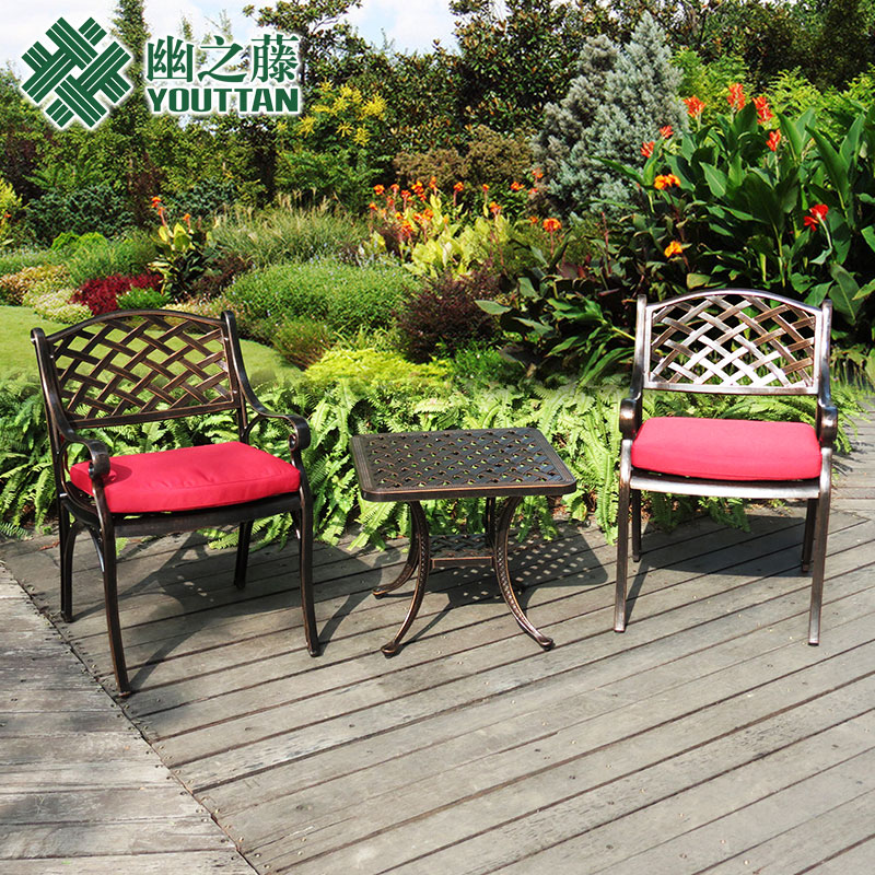 Teng secluded outdoor balcony tables and chairs outdoor patio outdoor leisure wujiantao personality wrought iron cast aluminum furniture