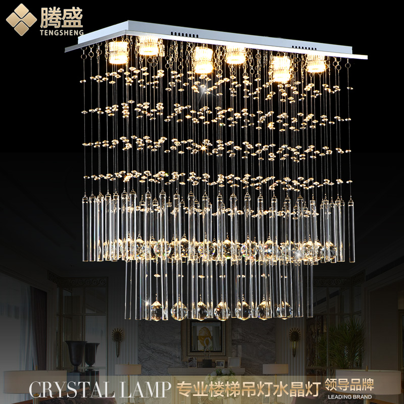 Teng sheng led chandelier crystal chandelier restaurant creative living room lights chandelier lamp chandelier modern minimalist personality