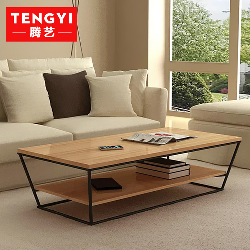 Teng yi wood american to do the old vintage wrought iron coffee table wood coffee table sofa side a few coffee table tea table