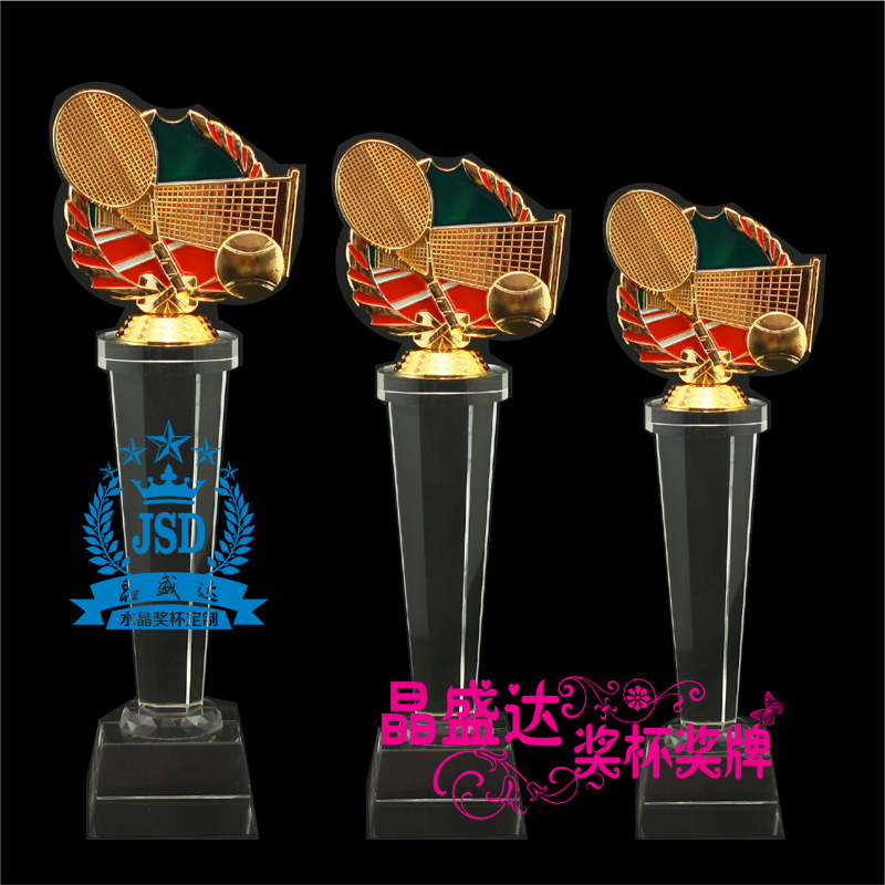Tennis tennis tournament trophy crystal trophy custom lettering metal trophy trophy trophy custom spot custom creative