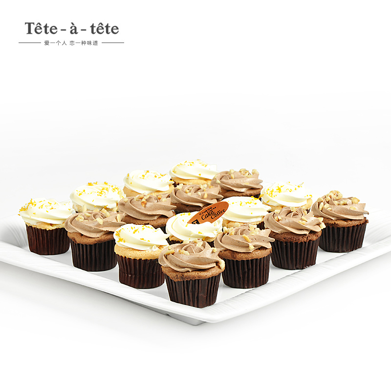 Teteatete chocolate/vanilla cupcakes cupcake cupcake wedding party combo