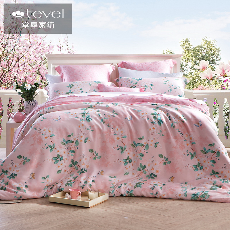 Tevel/stately home textile printing a family of four family of 2016 new tencel lyocell dancer style sheets bedding spend surplus