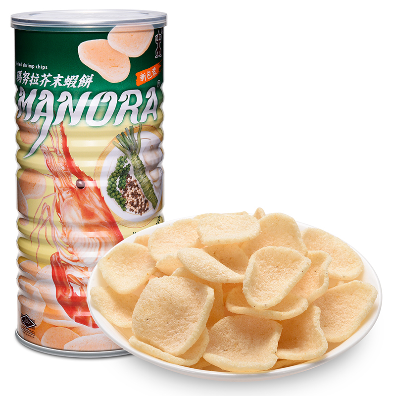 Thailand horse/90g cans imported manora manu la wasabi shrimp cassava chips crispy biscuits zero food