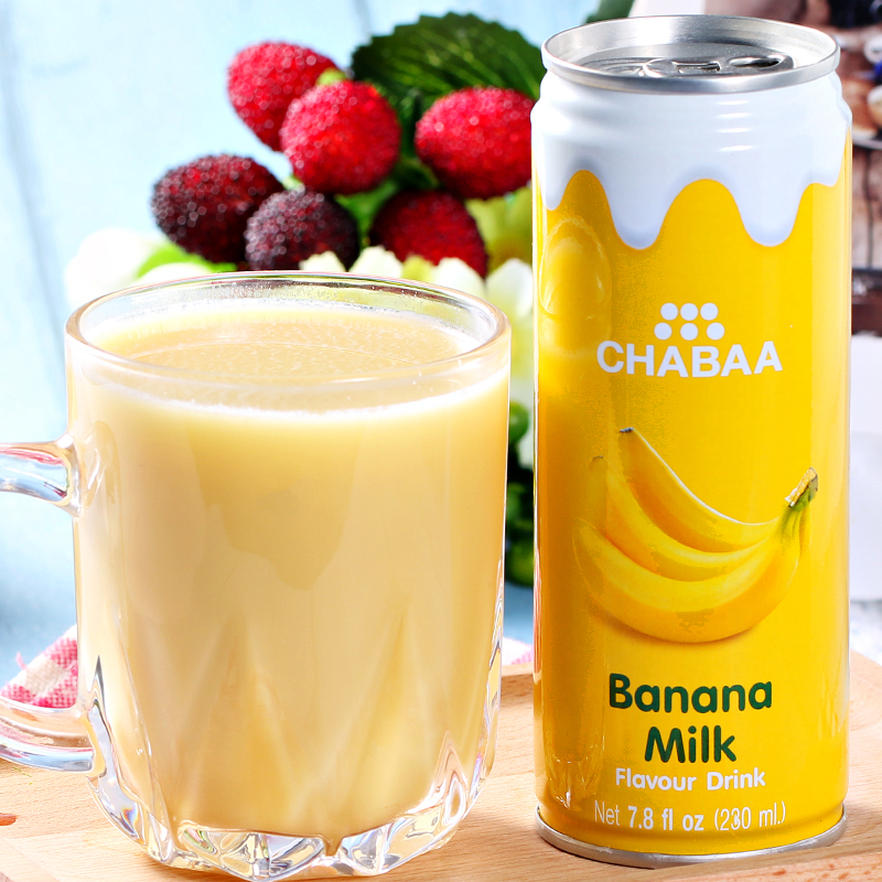 Thailand imported bati ya juice cans banana flavored milk drinks 230 ml imported casual drink cold drinks