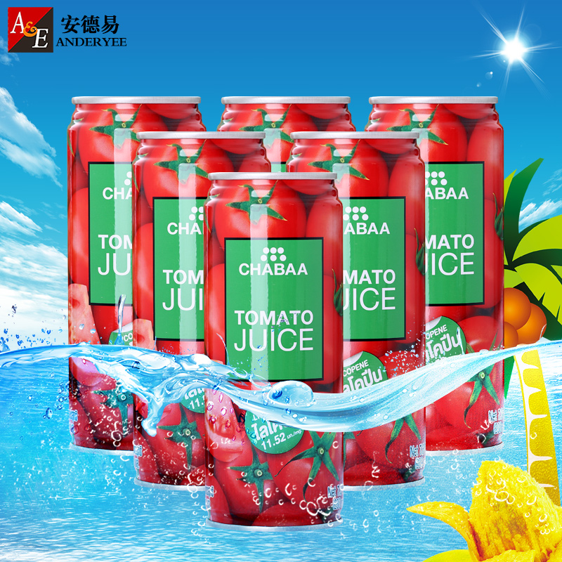 Thailand imported drinks bati ya canned tomato juice drinks 230 ml × 6 cans