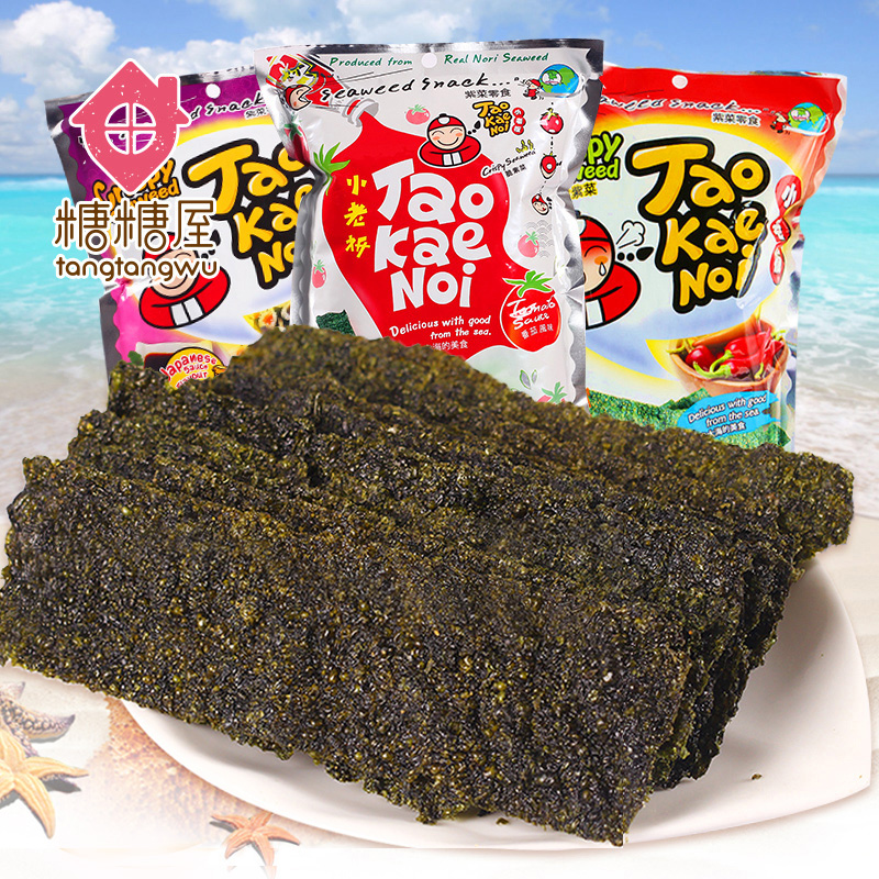Thailand imported snacks small business owners nori seaweed fried crisp nori seaweed sheet slice spicy flavor of soy sauce tomato 36g