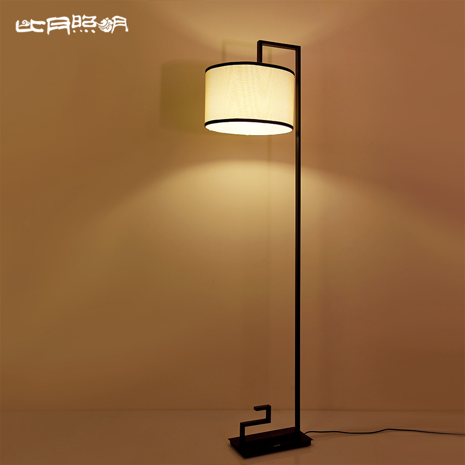 Than the month of vertical floor lamp living room bedroom new chinese paint wrought iron floor lamp floor lamp ikea creative study 3978