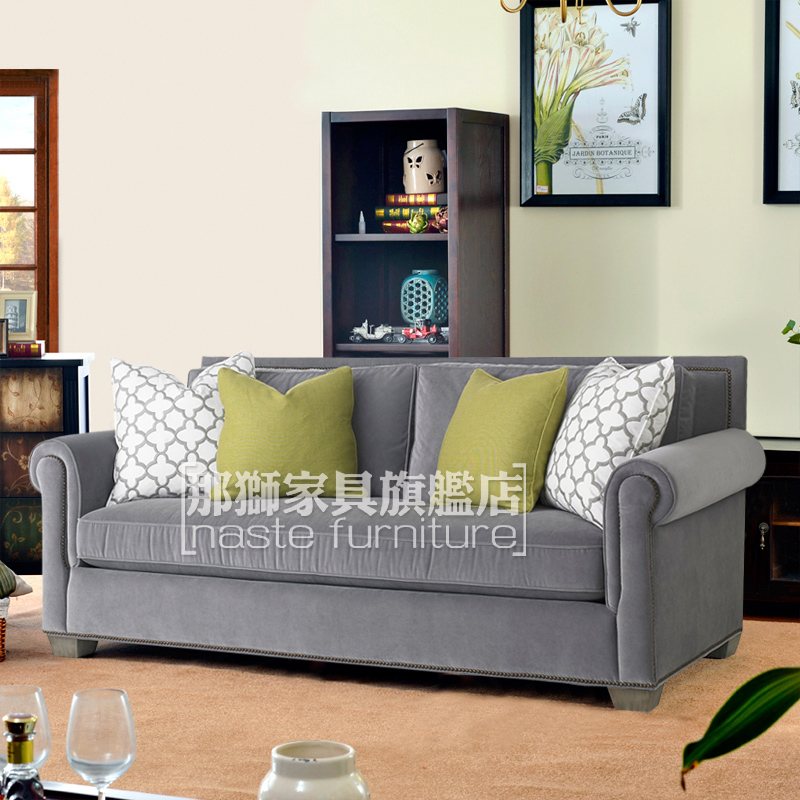 That lion american country living room leisure fabric sofa single double triple digit modern nordic small apartment sofa
