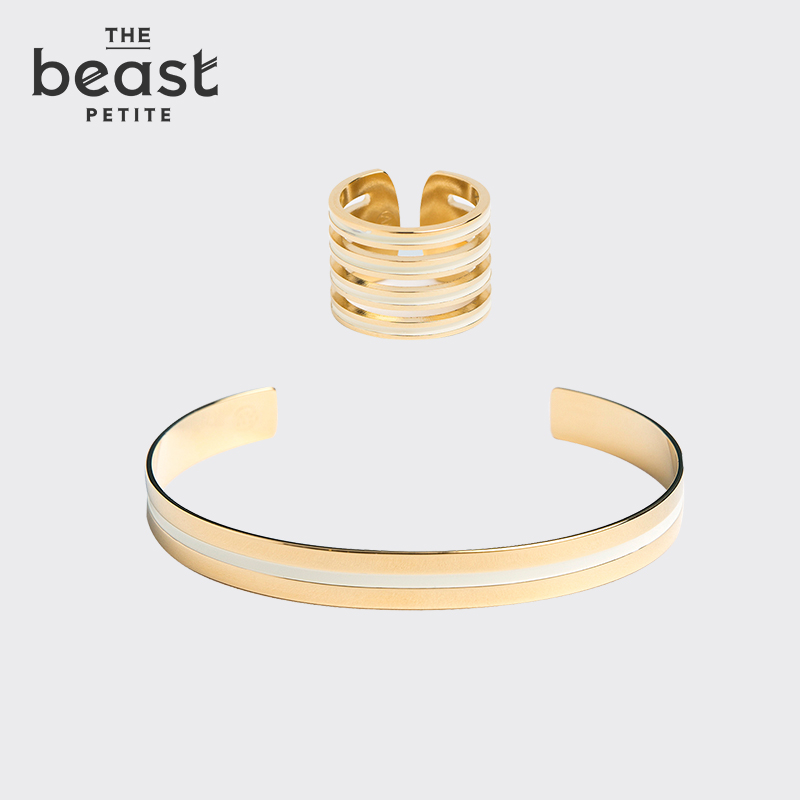 "The beast/fauvism ""manhattan series"" ivory color sets group rings bracelets suit"