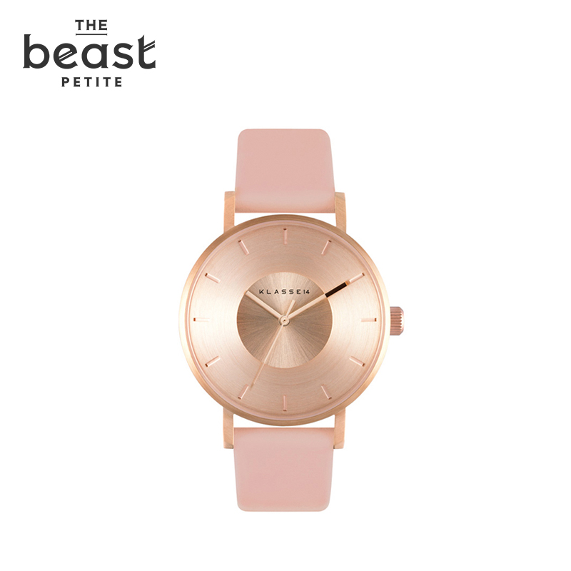 The beast/fauvism rose gold dial disc quartz watch watches minimalist watch fresh summer