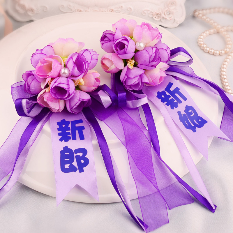 The bride and groom boutonniere corsage wedding supplies wedding corsage father and mother corsage korean wedding essential