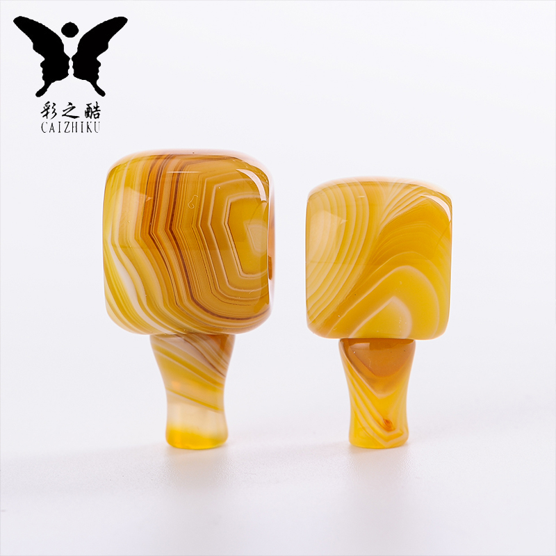 The cool color-natural yellow sardonyx tibetan buddha buddha head xingyue bodhi beads loose beads diy bead bracelets necklaces accessories