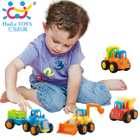 The department of music happy engineering inertial car 326 car/digging machine/mixer truck dump truck children's toy car