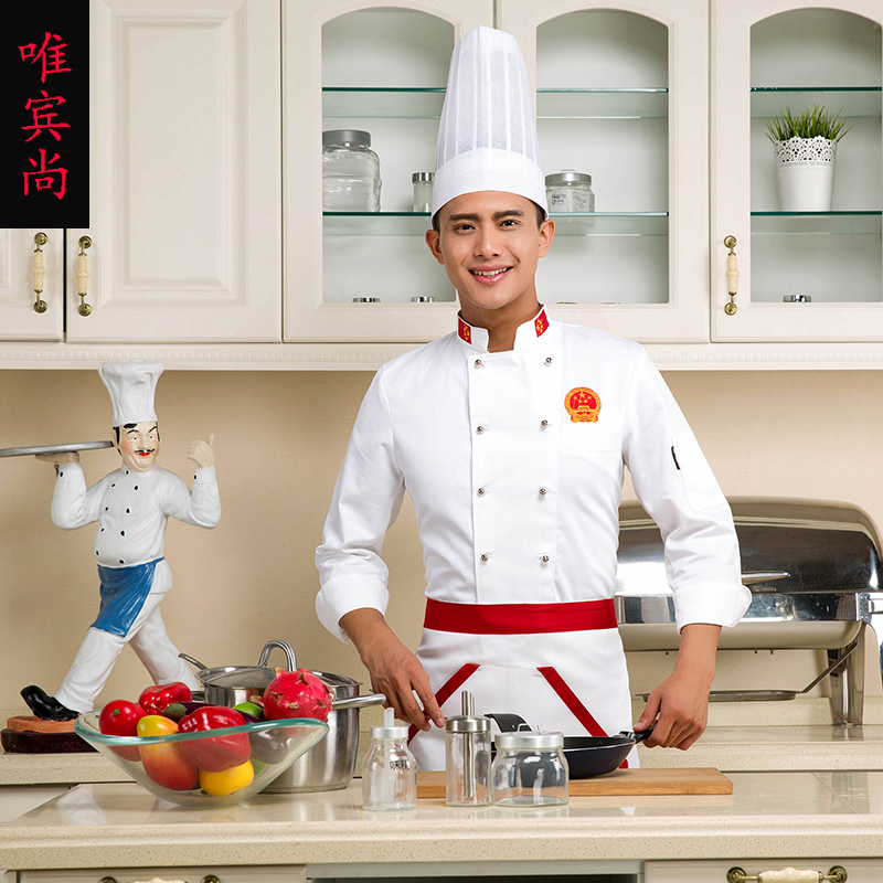 The hotel chef clothing overalls hotel restaurant chef sleeve hotel restaurant overalls overalls summer kitchen