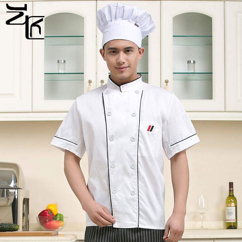 The hotel chef clothing short sleeve hotel restaurant chef chef clothing overalls overalls male chef clothing short sleeve sleeve