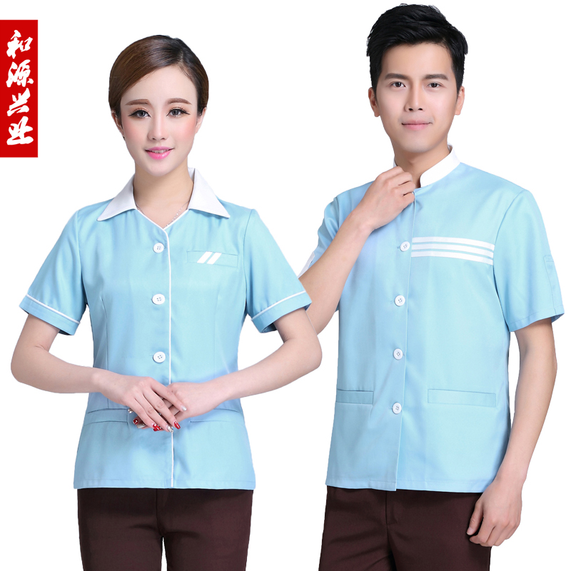 The hotel cleaners cleaning clothes short sleeve cleaning staff room attendant uniforms overalls summer hotel property uniforms female