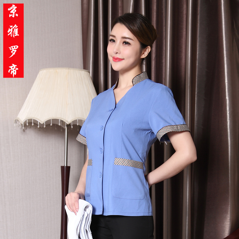 The hotel cleaners cleaning clothes short sleeve female summer cleaning service cleaning staff uniforms hotel room cleaners cleaning clothes short sleeve clothing tooling