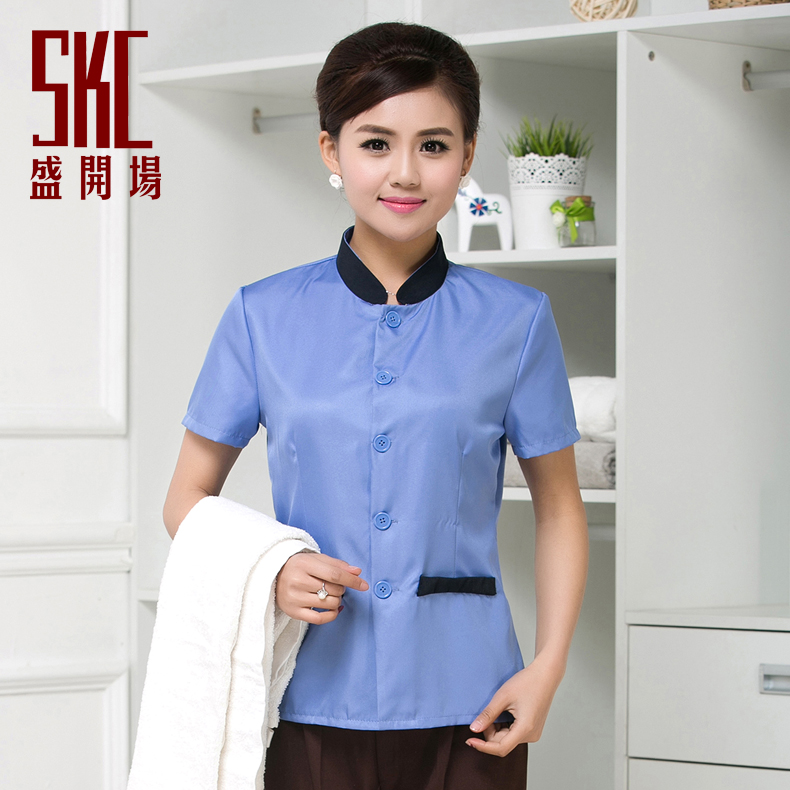 The hotel cleaners cleaning clothes short sleeve female summer cleaning service cleaning staff uniforms hotel room cleaners cleaning clothes short sleeve uniforms