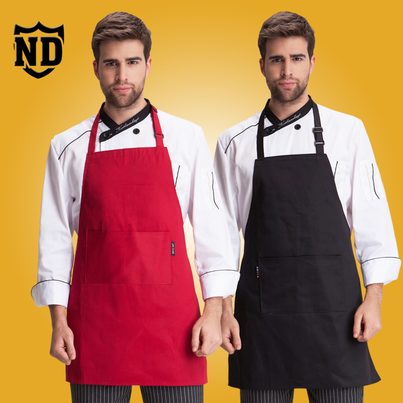 The hotel restaurant chef aprons halter oilproof western cafe work apron home kitchen apron aprons aprons overalls