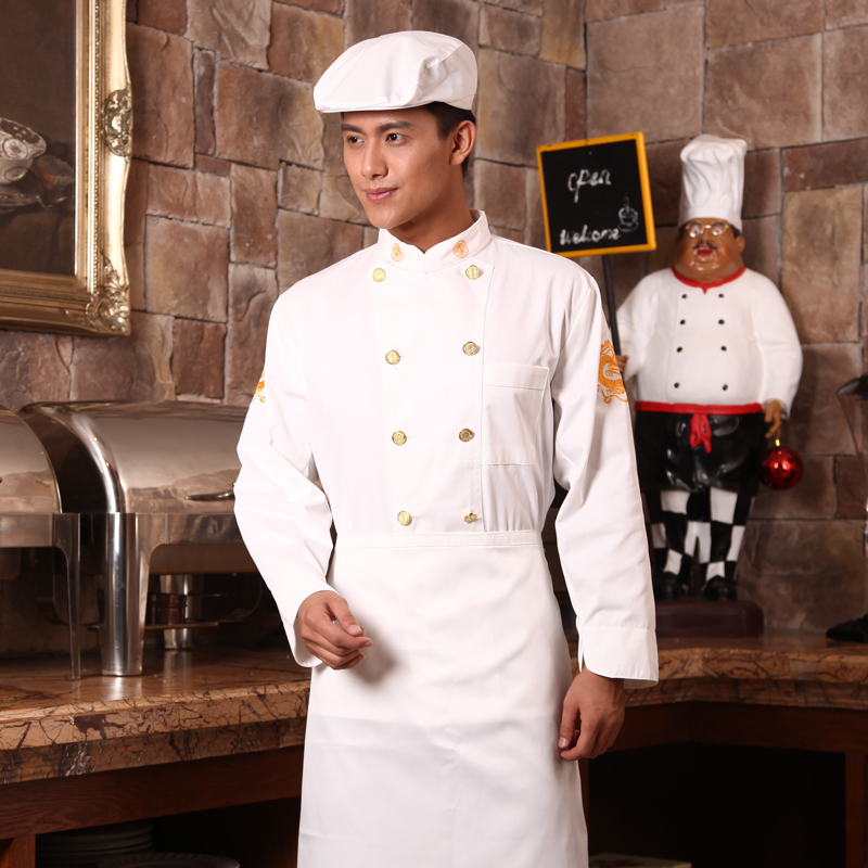 The hotel restaurant chef clothing long sleeve chef service hotel patisserie chef service hotel restaurant chef clothing spring and autumn