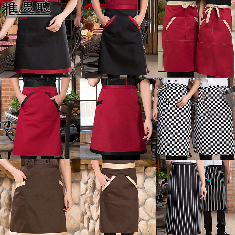The hotel restaurant kitchen chef aprons bust short paragraph striped apron chef apron chef apron men and women double pocket