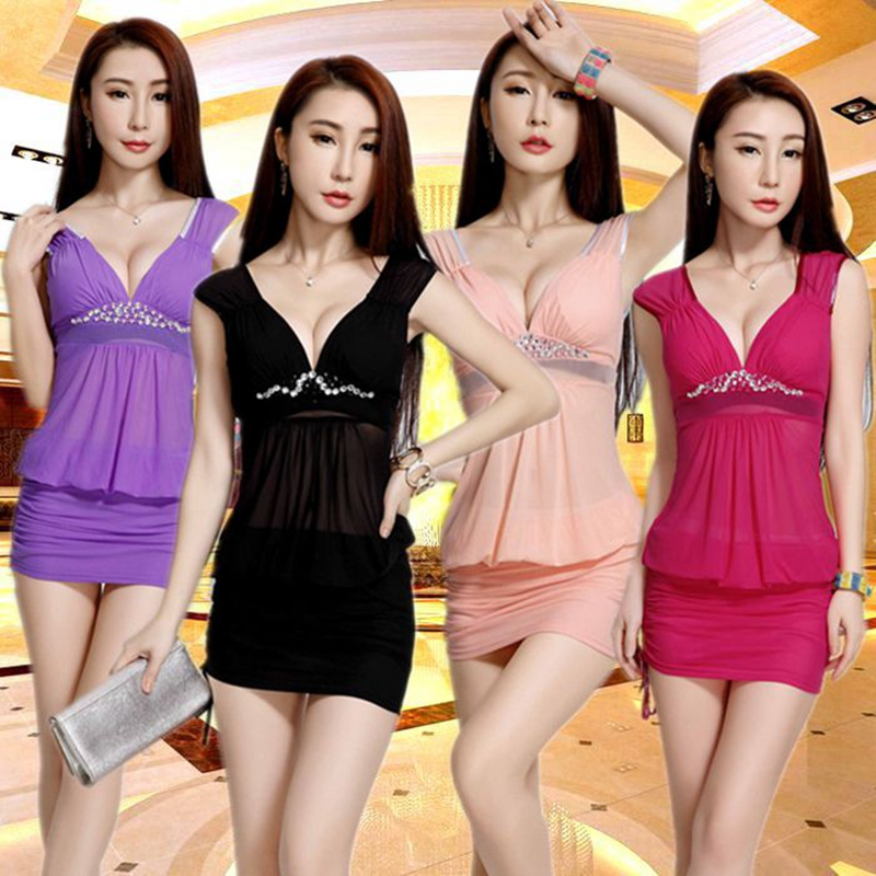 The new 2016 miss ktv night games dress sauna technician uniforms sexy nightclub ladies summer influx