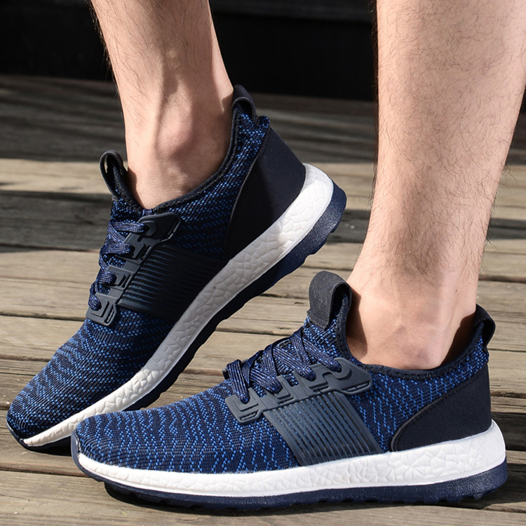 The new autumn and winter sports shoes fly woven men's shoes korean breathable casual shoes sports board shoes tide shoes running shoes student