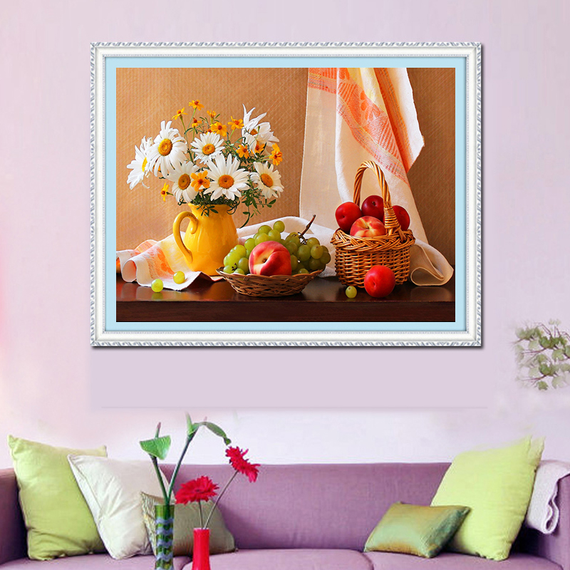 The new cube 5d diamond diamond embroidery painting painting decorative painting simple european minimalist living room diamond paste diamond stitch round diamond diamond diamond embroidery