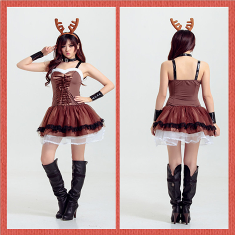 The new european and american adult elk reindeer christmas reindeer christmas masquerade costume costumes performance clothing