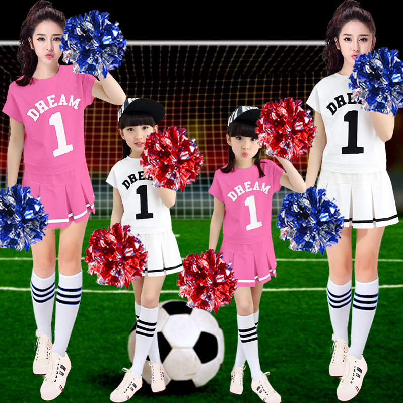 The new football baby clothing cheerleading uniforms cheerleading performance clothing costumes adult children la la la lara cheerleading uniforms aerobics clothing