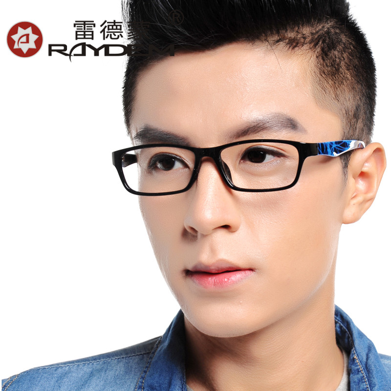 The new lightweight tr90 glasses frame glasses plain glass spectacles male female eye glasses frame finished with myopia
