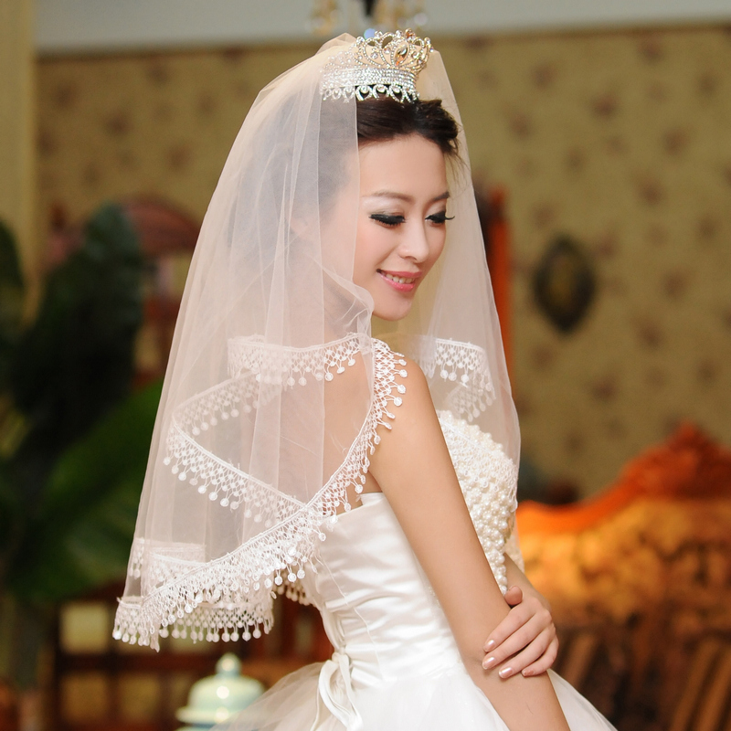 Get Quotations The New Long Wedding Dress Accessories Lace Bridal Veil