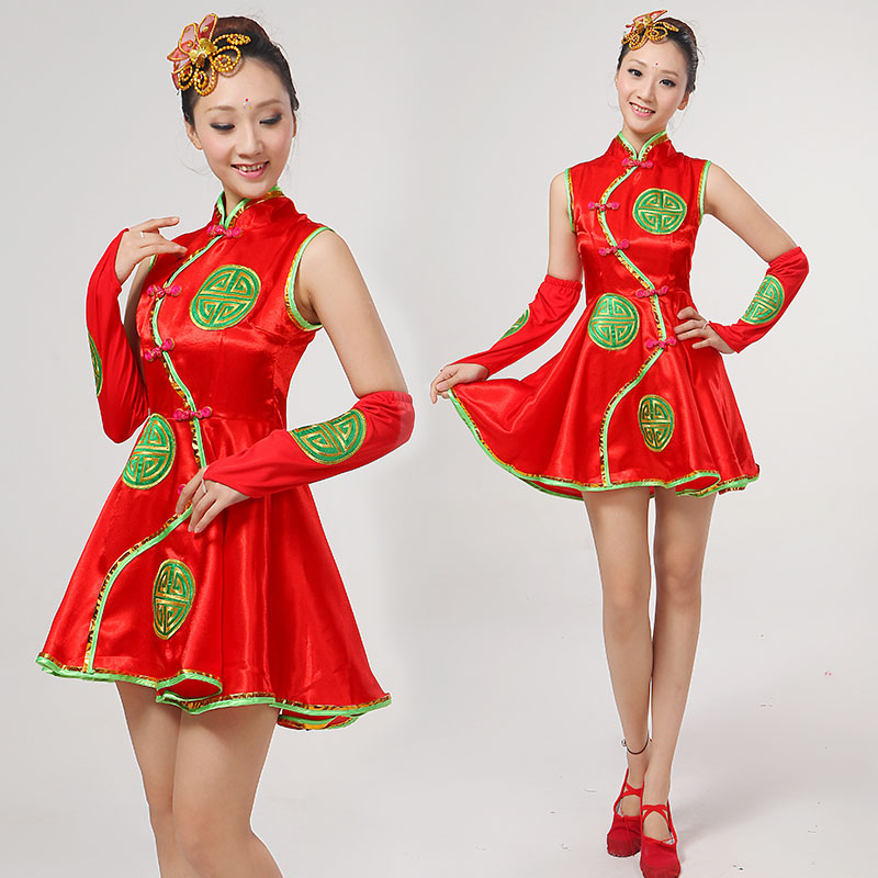 f67e05023 Get Quotations · The new national costumes classical dance costume skirt  assai female models chinese style dance clothes modern