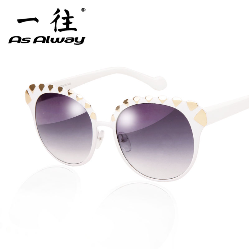 The new personality ms. european and american big round sunglasses tide models sunglasses retro sunglasses big box car driving glasses
