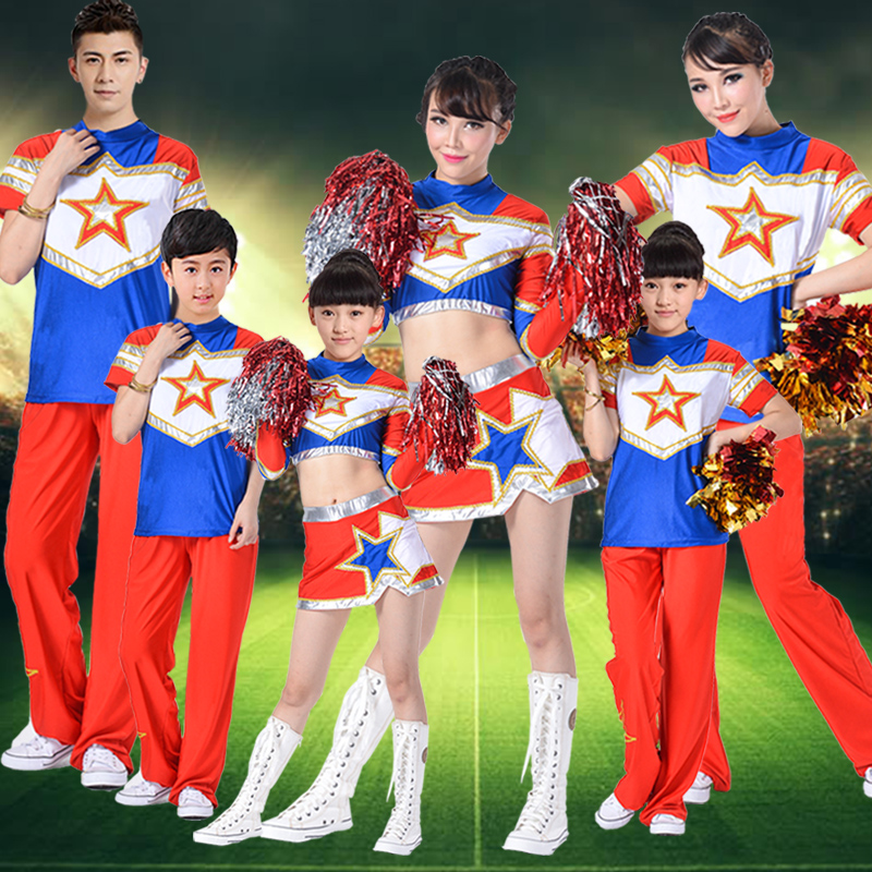 The new student cheerleading football baby cheerleading cheerleading performance clothing children's dance costumes for men and women clothes suit