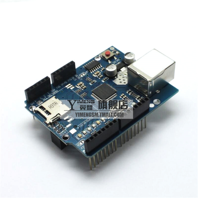 The new version of ethernet w5100 network expansion board sd card expansion module