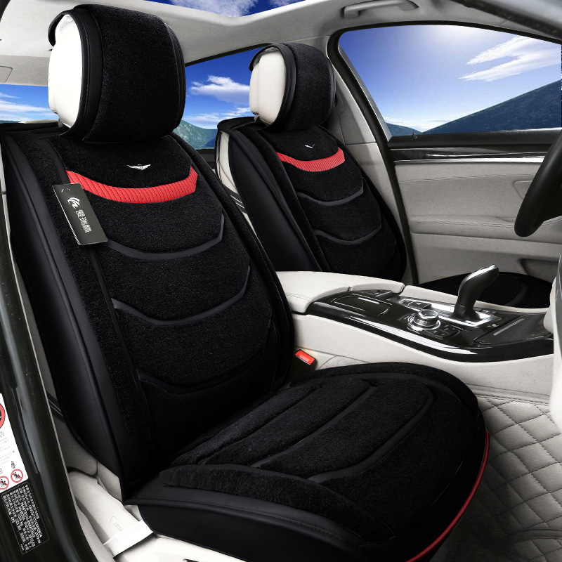 The new winter wool plush car seat tiguan magotan applicable audi a6l bmw 5 series cushion car mats shorthair
