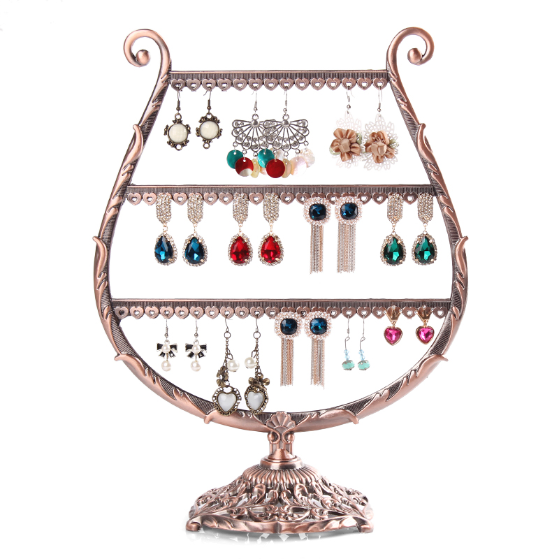 The other side of the non european retro alloy earrings earring rack earrings earring display rack hanging storage rack beautiful