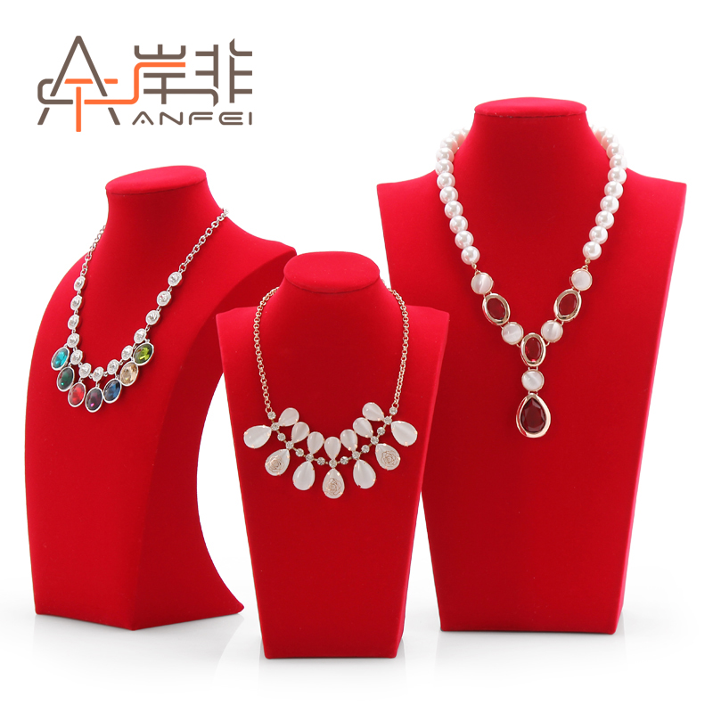The other side of the non quality velvet necklace jewelry rack shelf model portrait neck neck mold jewelry display props
