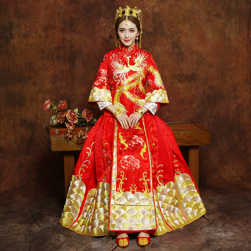 539329d12 Get Quotations · The same paragraph baby clothing xiu bride dress wedding  dress chinese wedding dress toast clothing hi
