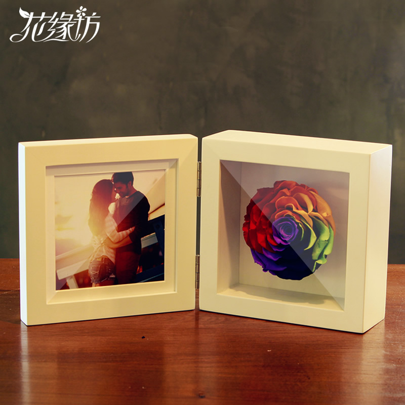 The sf flower preservation imports rose colorful frame ji read to send his girlfriend a birthday gift wedding anniversary gift