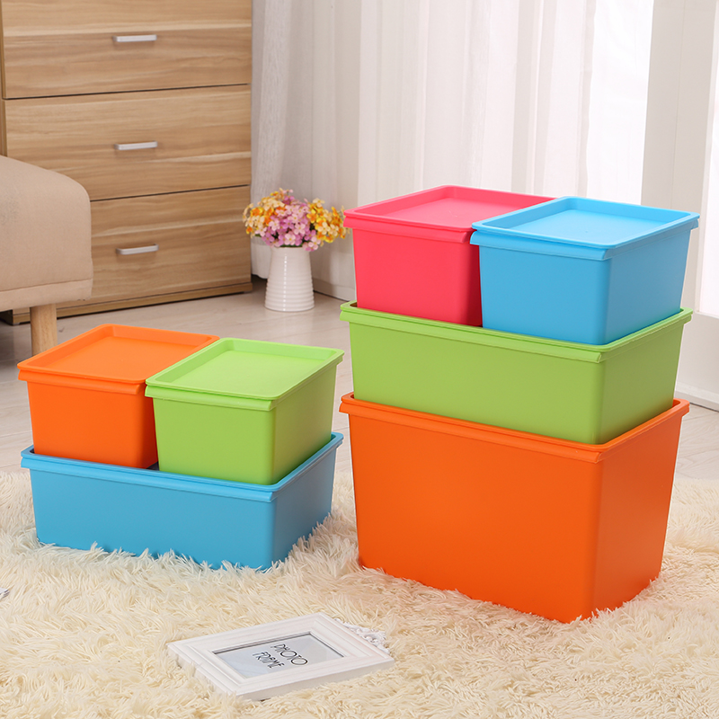 The size of the number of color plastic storage box sorting boxes of clothing toy storage box covered storage box turnover box storage box