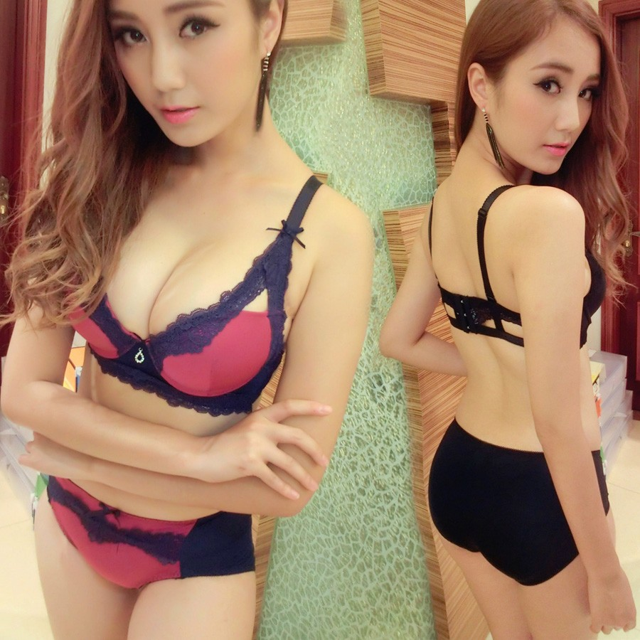 844abca43d0b2 Get Quotations · The united states back bra set sexy girls summer hollow thin  section underwear bra small chest