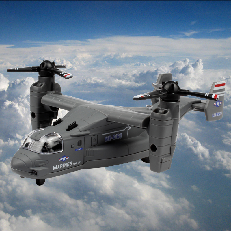 The united states rotor v-22 osprey transport aircraft children's toys alloy aircraft model aircraft aircraft helicopter