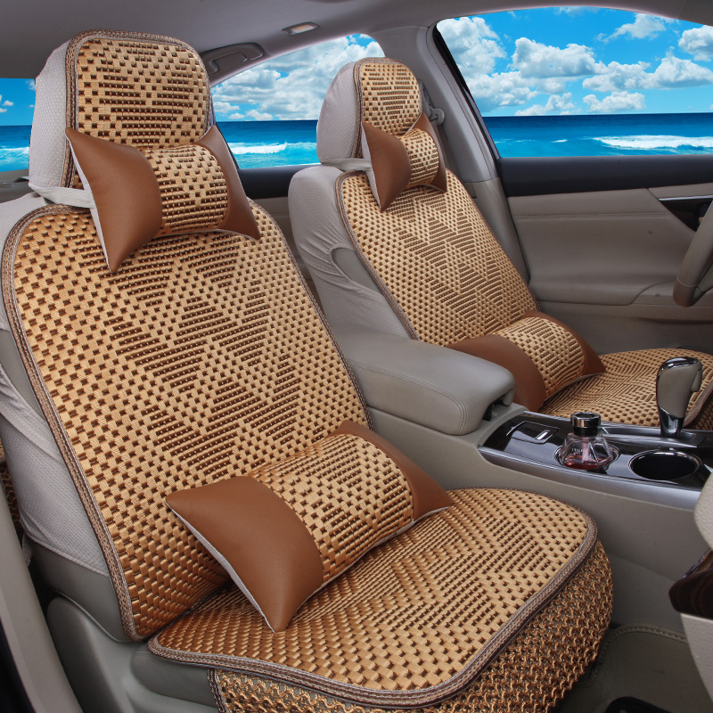 The whole package dedicated 3d car mats four seasons car seat cover custom made to order custom made in autumn and summer ice silk seat cover