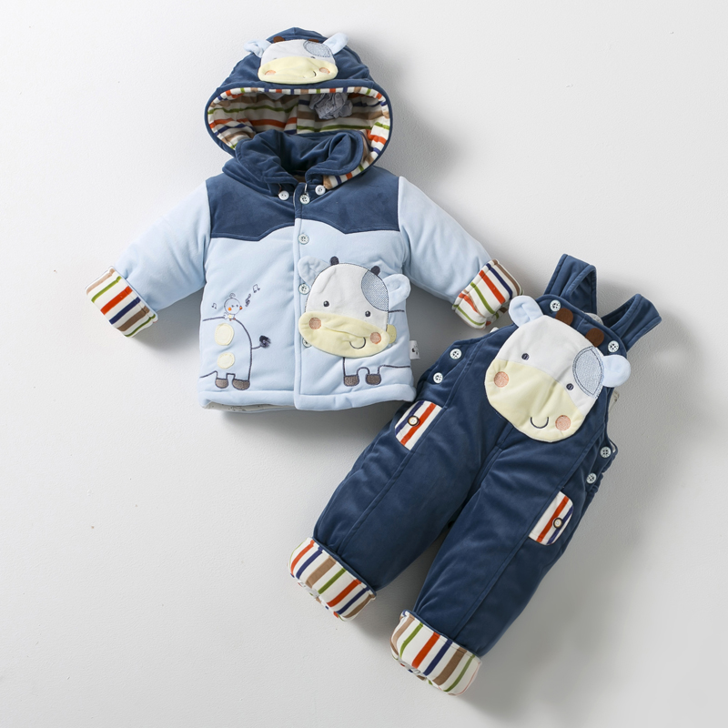 2c7673a6a Buy Thick 0-1-year-old baby boy fall and winter clothes baby cotton ...
