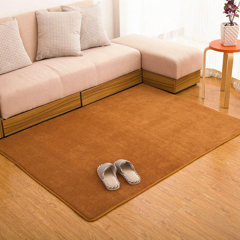 Thick coral velvet carpet living room coffee table carpet bedroom bed blanket paved tatami mat slip absorbent carpets
