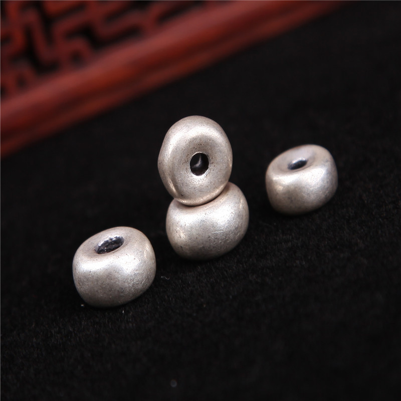 Thick plain spacer spacer beads tibetan silver spacer beads xingyue diamond diy jewelry accessories accessories accessories