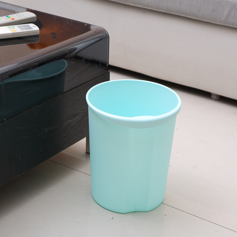 Thickened household trash trash trash creative kitchen living room without cover large trumpet toilet room bathroom trash can